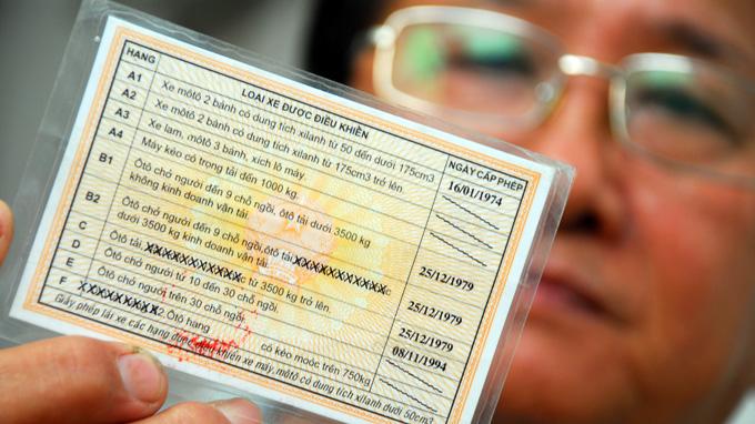 giấy phép lái xe ô tô