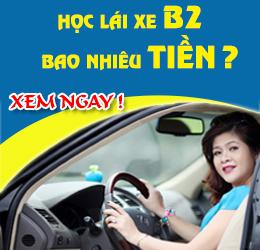 học lái xe ô tô b2 bao nhiêu tiền